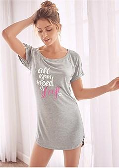 graphic sleep shirt