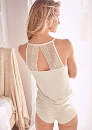 Back View Lace Racerback Tank