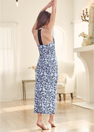 Back View Long Sleep Dress