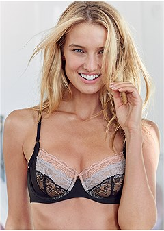lace unlined wire bra