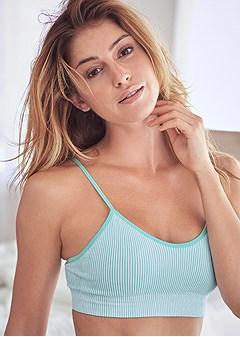 ribbed comfort bra 2pk