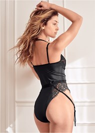 Cropped back view Lace Bodysuit