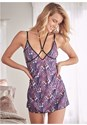 Cropped front view Sheer Strappy Babydoll