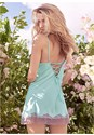 Cropped back view Satin And Lace Detail Chemise