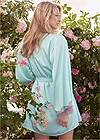 Cropped back view Satin And Lace Detail Robe
