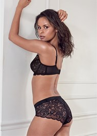 Cropped back view Unlined Lace Bra