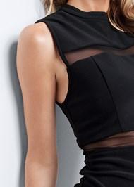 Alternate View Mesh Detail Bodycon Dress