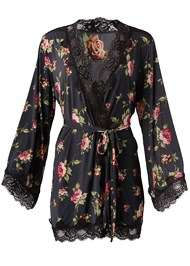 Ghost with background  view Floral Print Robe
