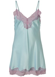 Ghost with background  view Satin And Lace Detail Chemise
