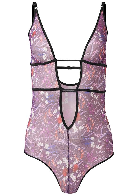 Ghost with background  view Deep Plunge Bodysuit