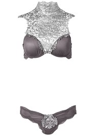 Ghost with background  view High Neck Bra/Panty Set