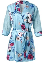 Alternate View Floral And Lace Sleep Robe