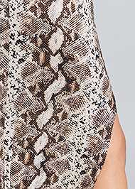 Alternate View Python Print Casual Dress