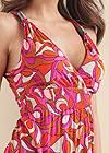 Alternate View Geometric Print Maxi Dress