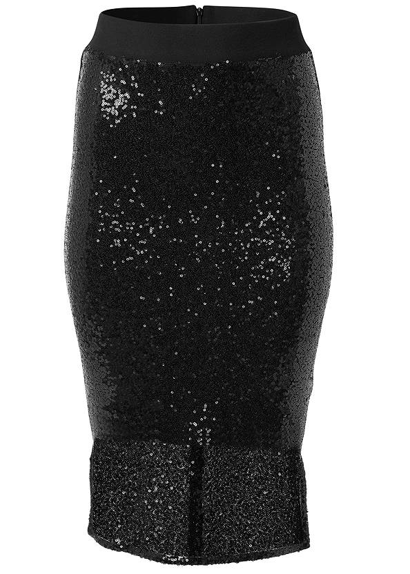 Ghost with background  view Sequin Midi Skirt