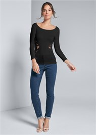 Full front view Seamless Cut Out Top