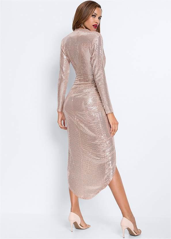 Full back view Sequin Long Dress