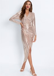 Alternate View Sequin Long Dress