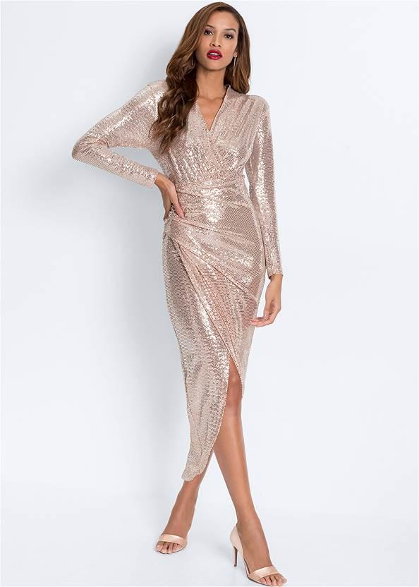 Alternate View Sequin Long Dress