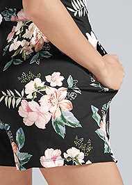 Alternate View Casual Floral Print Romper