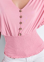 Alternate View Smocked Waist Top