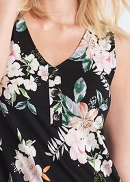 Alternate View Button Detail Floral Dress