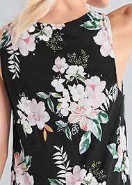 Alternate View Button Detail Floral Dress