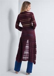 Full back view Long Crochet Duster