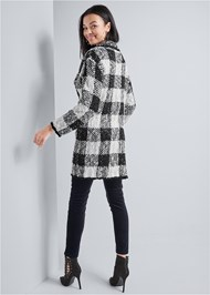 Alternate View Sparkle Plaid Long Cardigan
