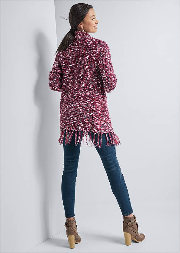Alternate View Marled Knit Chenille Cardigan