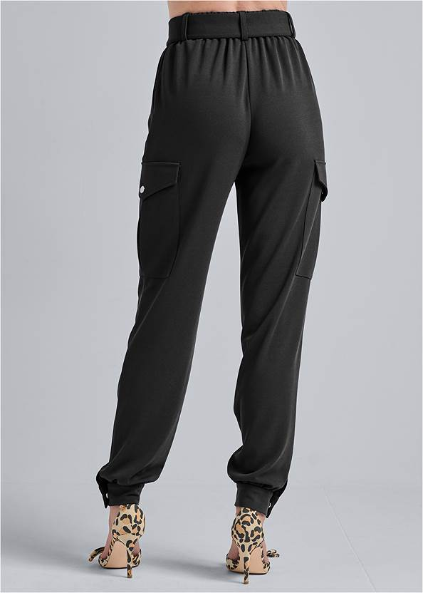 Waist down back view Belted Cargo Pants