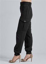 Waist down side view Belted Cargo Pants