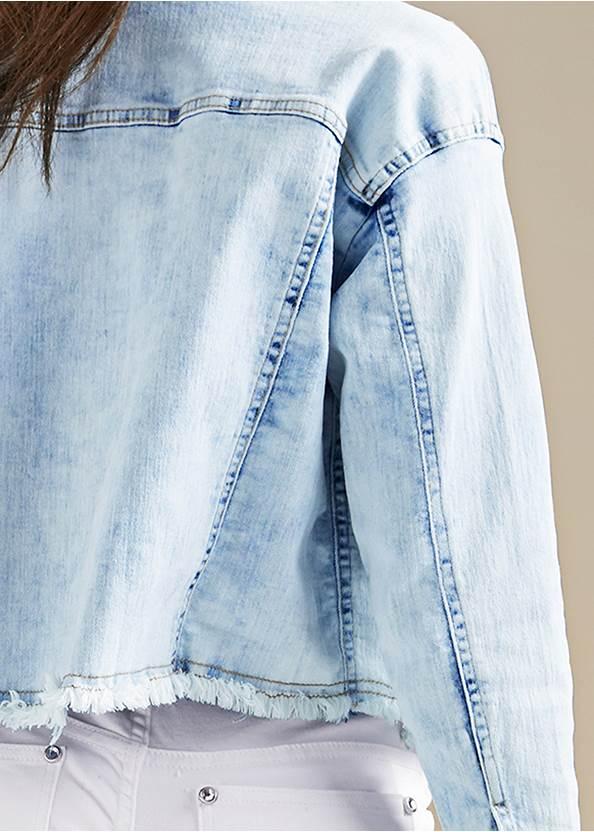 Back View Acid Wash Denim Jacket
