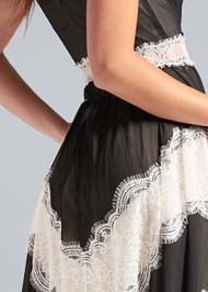 Alternate View Lace Inset V-Neck Dress
