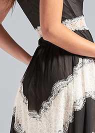 Alternate View Lace Inset V-Neck Dress