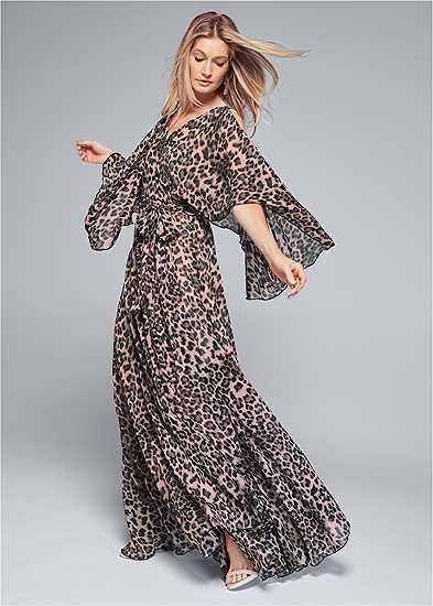 Animal Print Long Dress