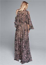 Detail back view Animal Print Long Dress