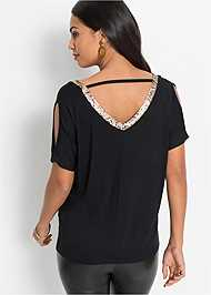 Cropped back view Cold Shoulder Top