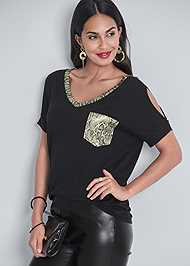 Full  view Cold Shoulder Top