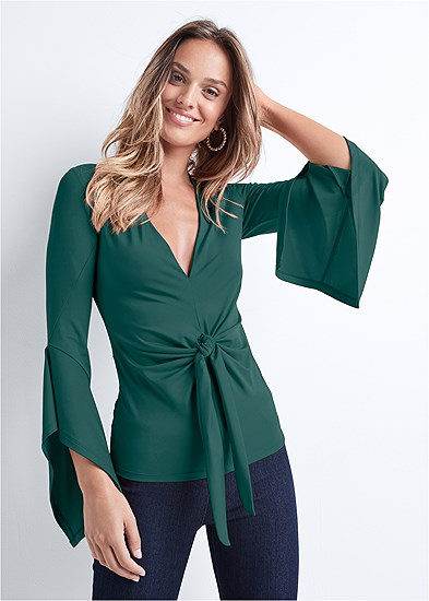 twist knot front top