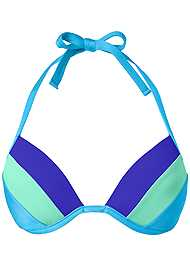Alternate View Color Block Push Up Halter