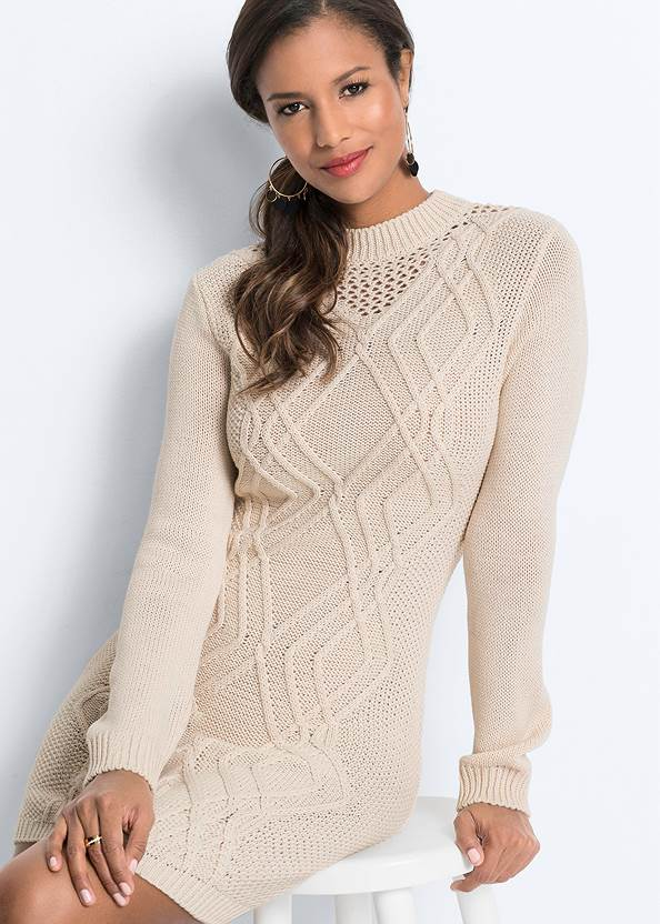 Detail  view Cable Knit Sweater Dress