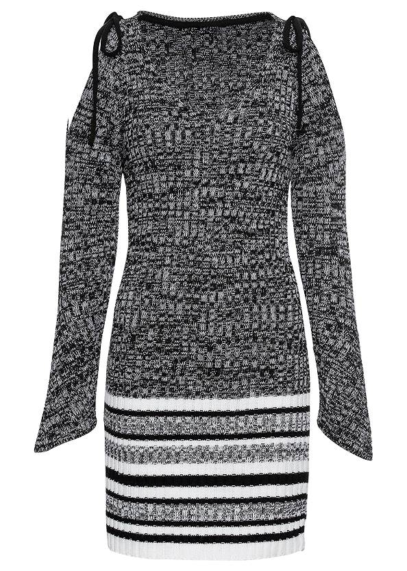 Alternate View Cold Shoulder Sweater Dress