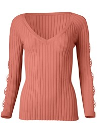 Alternate View Sleeve Detail Sweater
