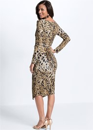 Full back view Leopard Printed Dress