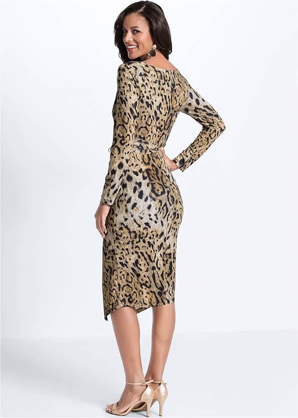 Full back view Leopard Printed Dress