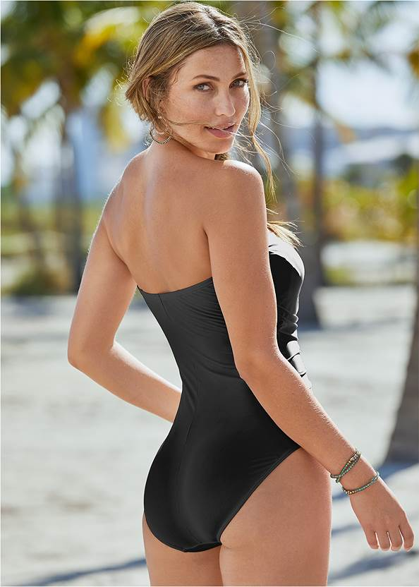 Back View Slimming Bandeau One-Piece