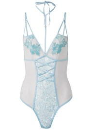 Ghost with background  view Floral Sheer Bodysuit