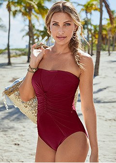 slimming bandeau one piece