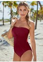 Front View Slimming Bandeau One Piece
